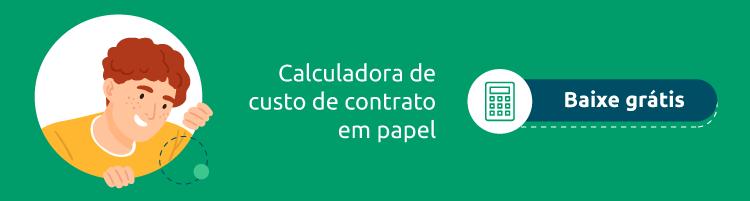 Calculadora de custos com papel